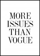 More Issues Than Vogue, Poster