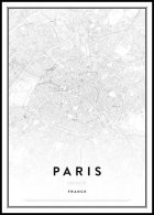 Carte de Paris, Affiche