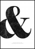 Ampersand & Marble Affiche