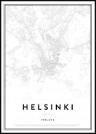 Map of Helsinki, Affiche