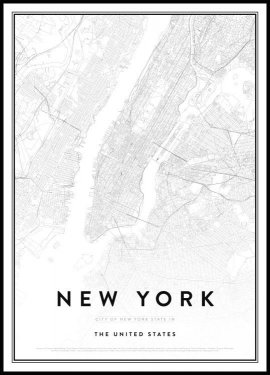 Carte de New York, Affiche