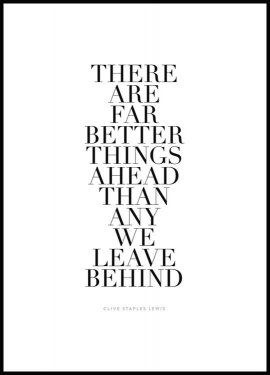 Far Better Things Ahead, Affiche