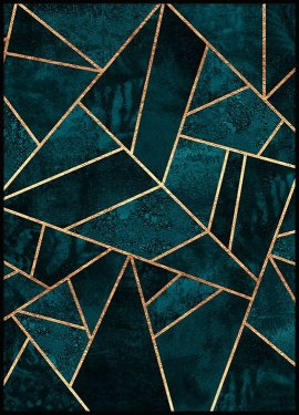Deep Teal Stone Affiche