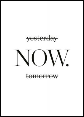Yesterday now tomorrow, Affiche