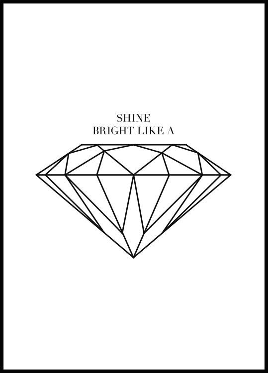 Shine Bright Like A Diamond, Affiche