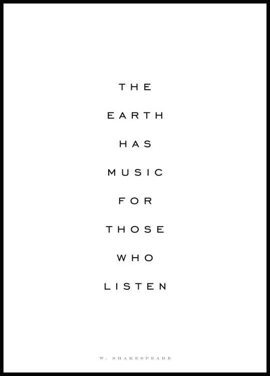 The Earth Has Music, Affiche