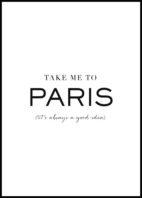Take me to Paris, Affiche