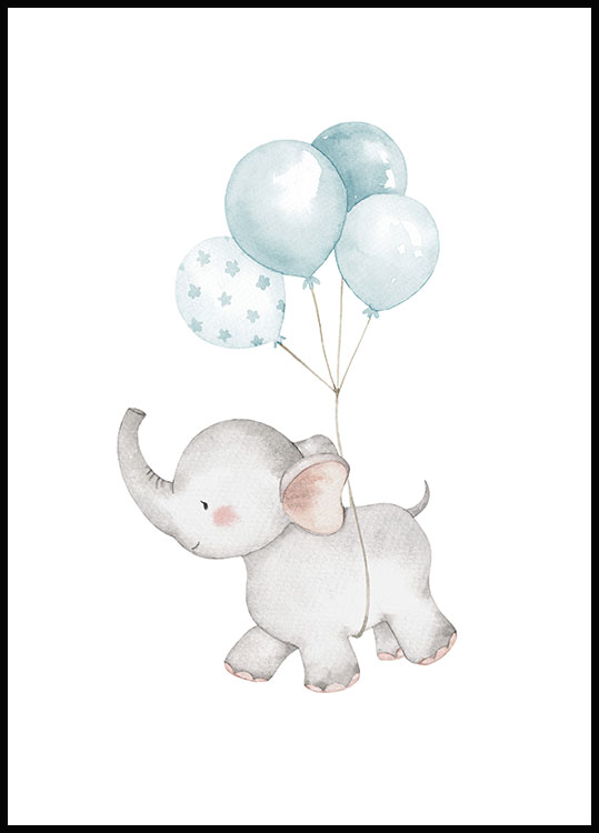 Elephant Balloons, Affiche
