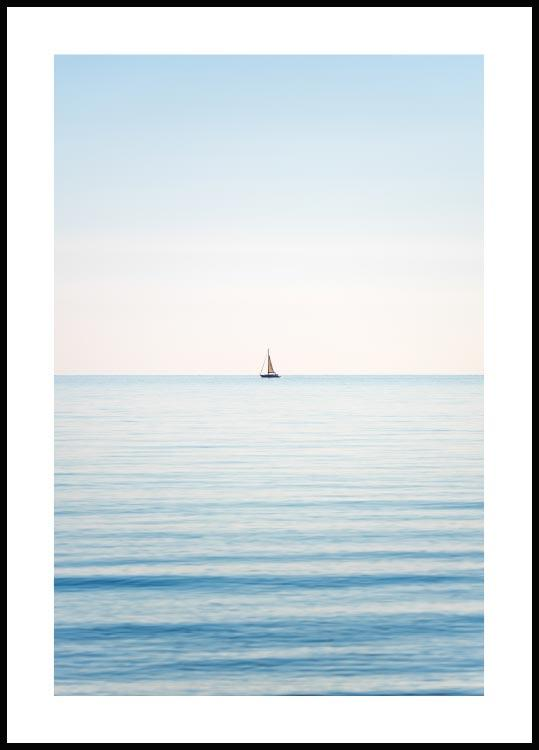 Horizon Sailboat, Poster