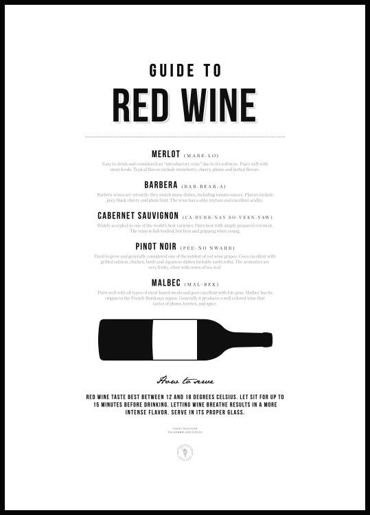 Guide du Vin Rouge, Poster