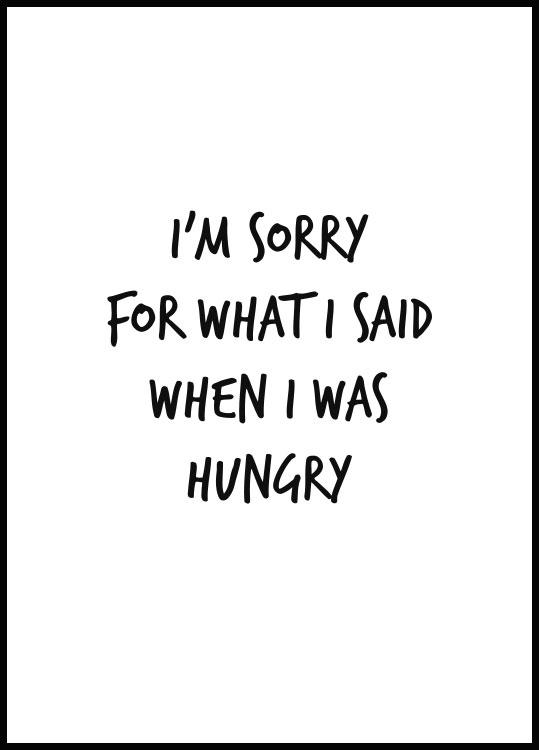 I Was Hungry, Affiche