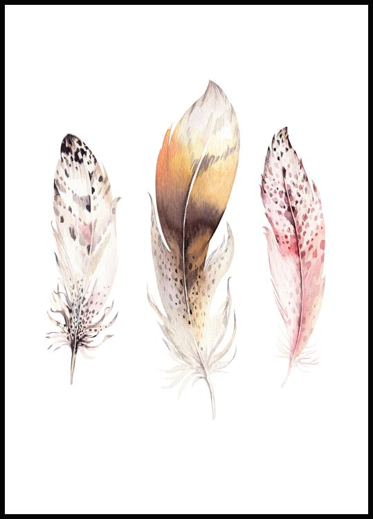 Feathers, Affiche
