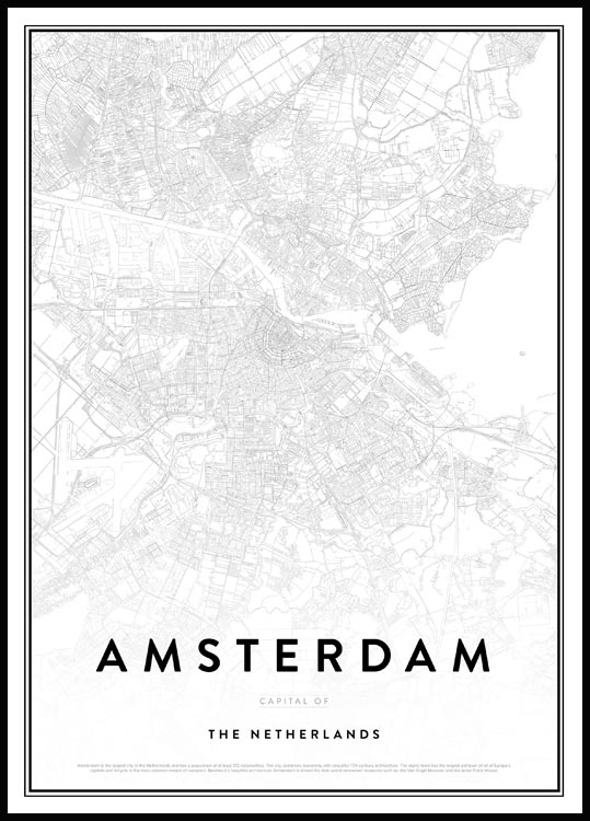 Map of Amsterdam, Affiche