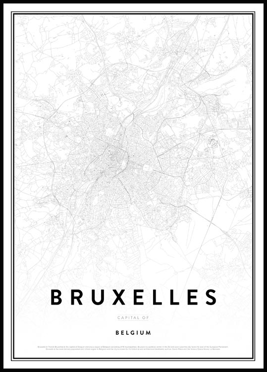 Map of Bruxelles, Affiche