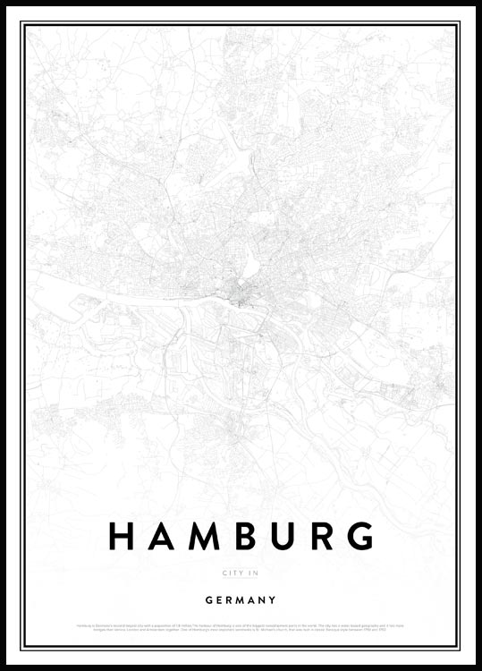 Map of Hamburg, Affiche