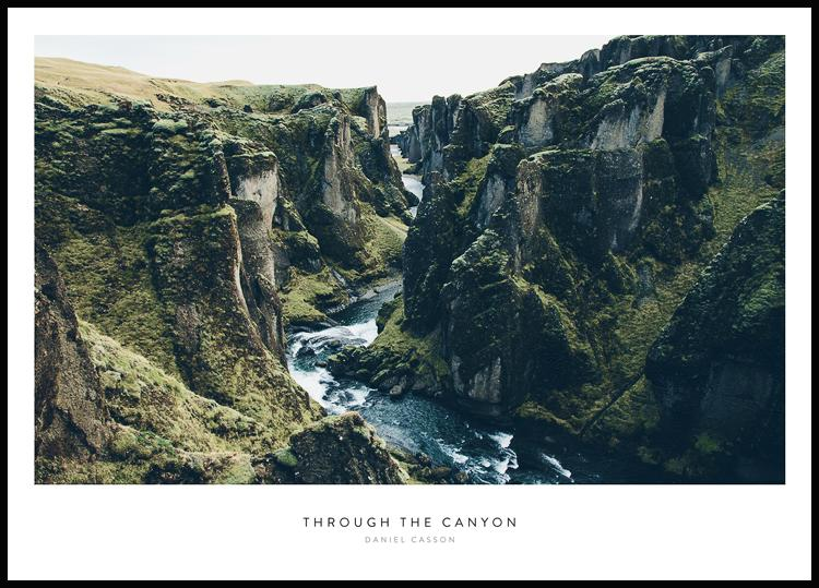 Through the Canyon, Poster