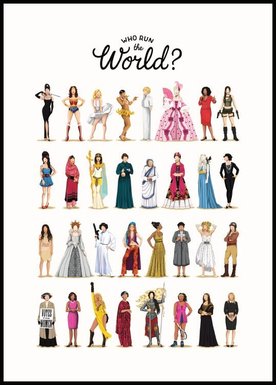 Who run the world, Affiche